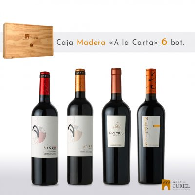 "Caja Madera 6 botellas ""a la carta""."
